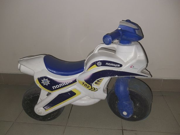 Мотоцикл білий ORION Поліція 70 * 20 * 40 см.