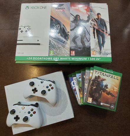 Xbox One S 500GB + 8 gier (Gwarancja)