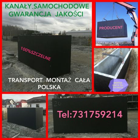 Kanał samochodowy Piaseczno Warszawa Pruszków Komorów Grójec Producen