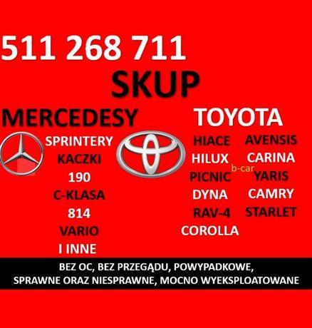 Skup MERCEDESÓW Mercedes Sprinter Kaczka,TOYOT Toyota Hiace Corolla