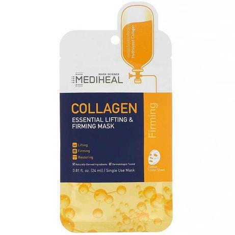 Mediheal, Тканевая лифтинг маска для лица, коллаген, 1 шт., 24 мл