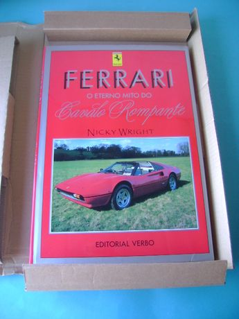 Livro Ferrari o eterno mito do cavalo rompante - Da verbo - Com caixa
