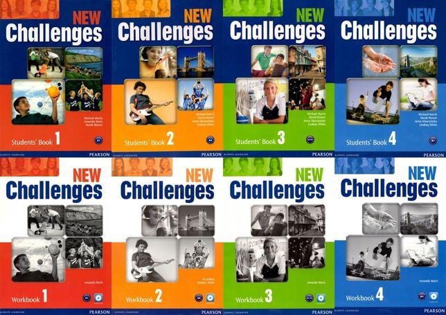 New Challenges 1, 2, 3, 4 комплект: Student's Book + Workbook