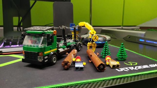 Lego city ciężarówka z drewnem