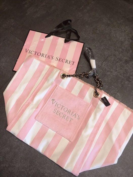 Victorias Secret nowa torba shopper paski Warszawa - image 1