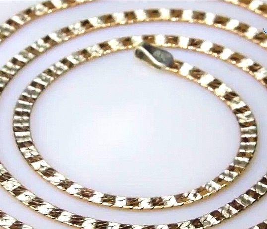 Цепочка колье Италия серебро 925 пробы в золоте 585 пробы