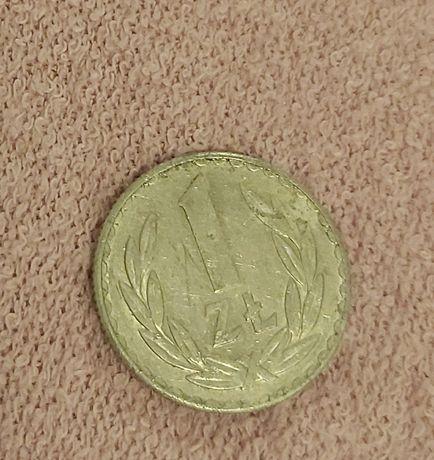 Złotówka z 1976 roku bez znaku mennicy