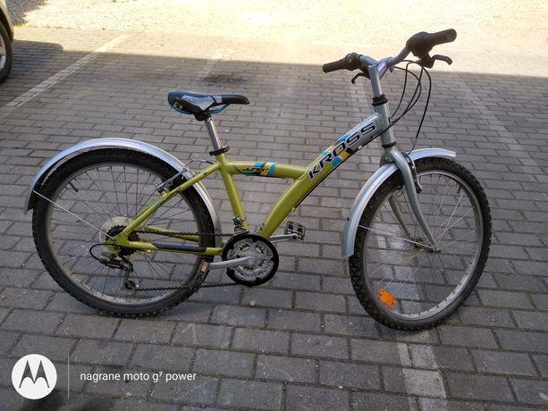 Rower młodzieżowy Kross koła 24