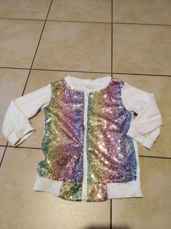 Cekinowa bluza dla dziewczynki r. 122-128 stan bdb