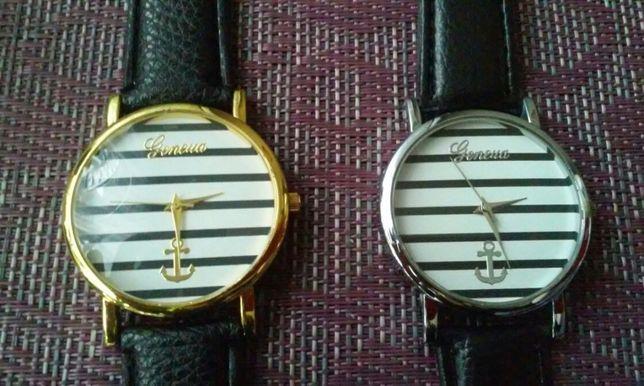Zegarek w paski czarno bialele Geneva Nowy.