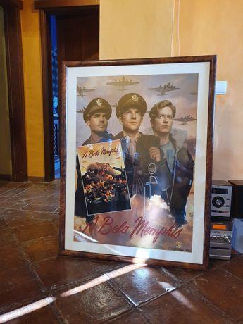 Poster gigantesco emoldurado do Filme americano Memphis Belle 1990