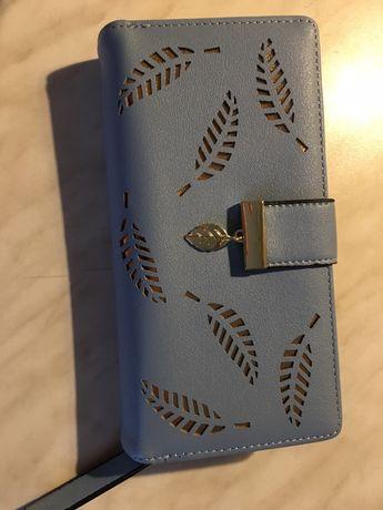 Кошелек, гаманець жіночий блакитний