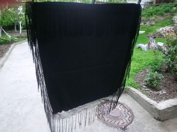 Хустка тернова чорна 95#95см