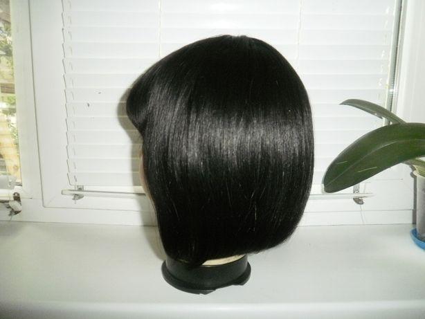 Парик.Волос Натуральный.Новый.Чёрный.
