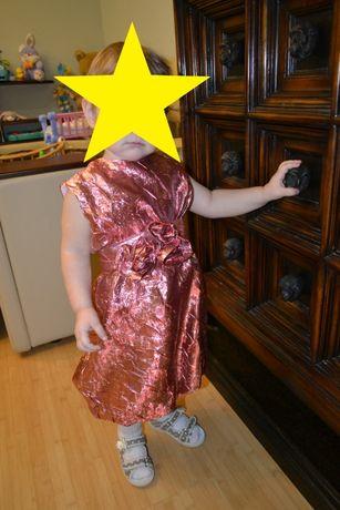Нарядное платье для девочки от 1 до 3 лет (ткань порча)