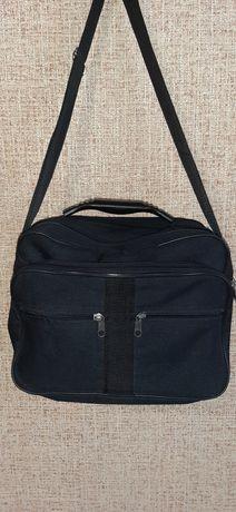 Черная мужская сумка, барсетка