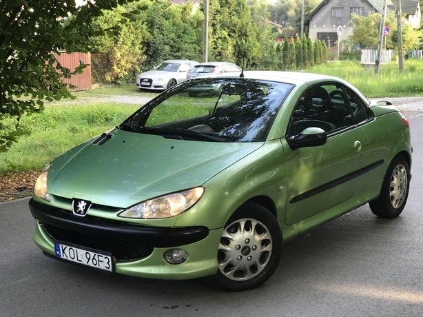 Peugeot 206cc*2.0benzyna*136ps*KLlMA*skóra*podgrzewane siedzenia*