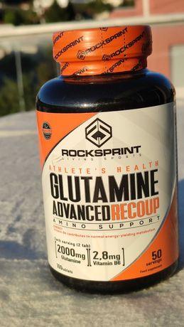 GLUTAMINE Advanced RECOUP 100 comprimidos Rocksprint NOVO e SELADO