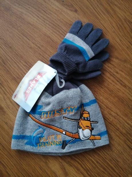 Ciepła czapka + rękawiczki Planes Disney dla dziecka.