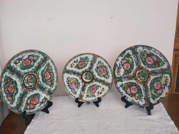 Тарелки декоративные.Китайские.Клеймо-Macau.Три штуки.