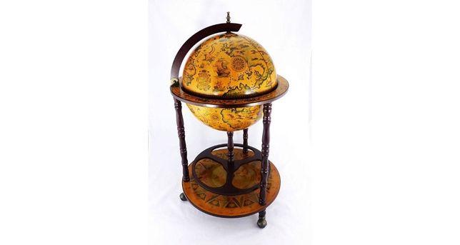 Глобус-бар напольный, 45 см сфера, коричневый, 45001R