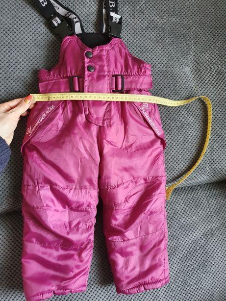 Spodnie zimowe, na sanki 98