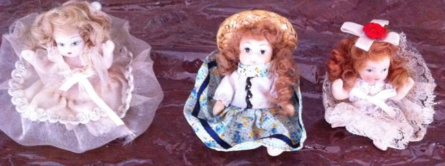 mini bonecas antigas de porcelana