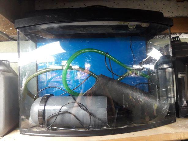 Akwarium panoramiczne  72l z filtrami