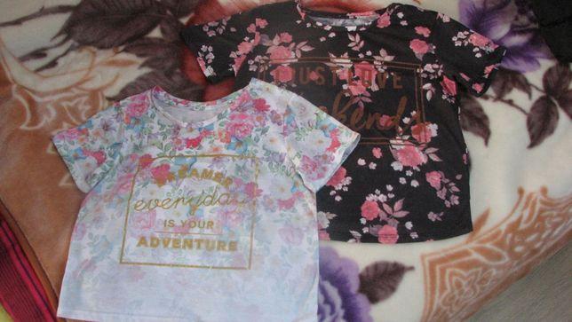 2 koszulki dla dziewczynki