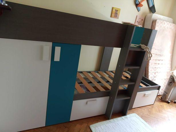 Beliche com roupeiro, 2 gavetões e mesa cabeceira, Lupy Conforama