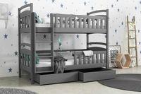 Łóżko dla 2 dzieci wojtek 5 ! Materace + szuflady w zestawie 190x80