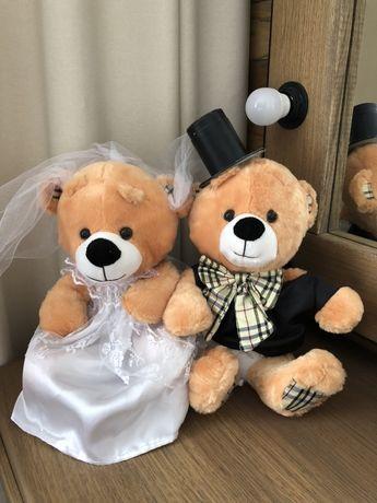 Свадебные медведи 30 см