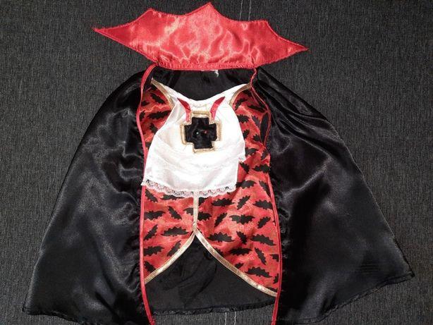Костюм карнавальный хеллоуин Halloween плащ с жилетом вампир 4-6 лет