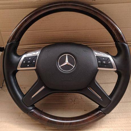 Руль дерево Mercedes w204 w212 x166 w166 w463 G GL ML E C AMG Brabus