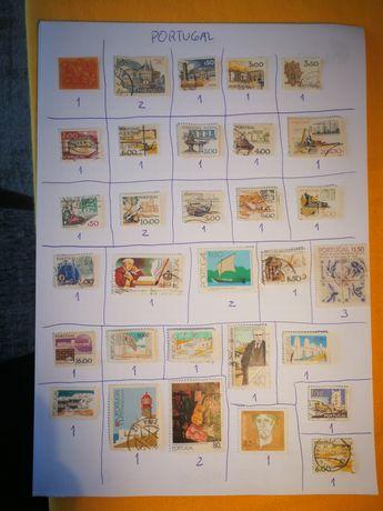 Selos usados vários países