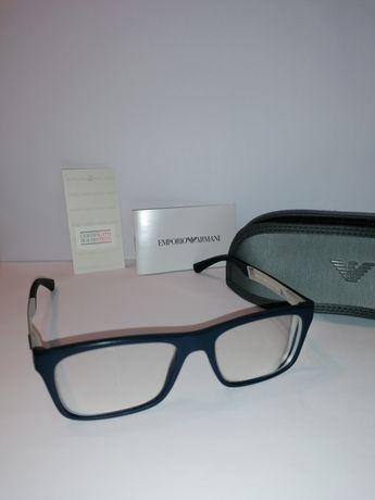 Okulary Emporio Armani plus nakładki przeciwsłoneczne i pokrowiec