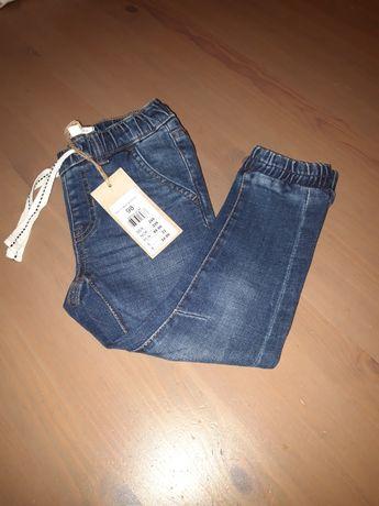 Spodnie jeansy newbie 98 nowe