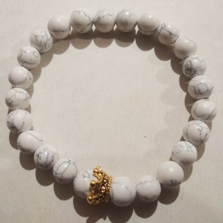 Браслет .мраморные камни
