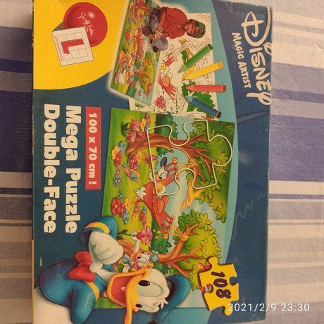 Mega Puzzle Dupla Face da Disney 108 peças
