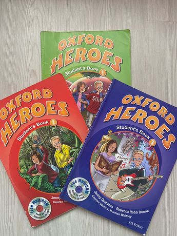 Книжки Oxford Heroes ( 1,2,3)