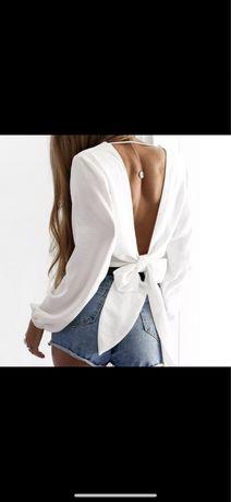 Bluzka biała z kokardka