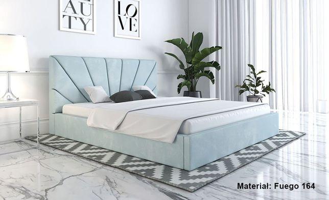 Łóżko MINO SLIM 160x200 tapicerowane stelaż NOWY pojemnik kolory WYBÓR