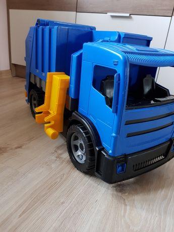 Duża cieżarowka śmieciarka