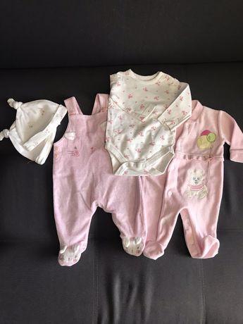 Набор вещей на  малышку 0-3 месяца