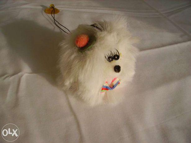 Cãozinho de Peluche, branco,fofinho!