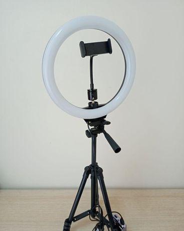 Новый штатив 1,35м и лампа кольцевая на 26см Комплект для блогера