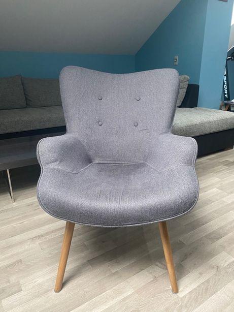 Szary Fotel Uszatek