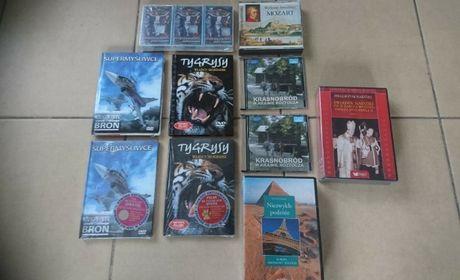 Filmy CD naukowe, przyrodnicze, religijne muzyka NOWE !