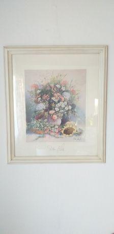 Obraz kwiaty Peter Motz sygnatura