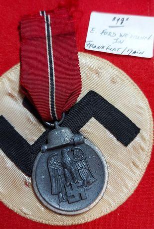 """Medalha Ostmedaille marcação """"19""""Alemanha nazi-suástica ORIGINAL"""